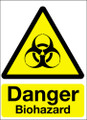 Danger biohazard vinyl sign