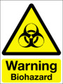 Warning biohazard vinyl sign