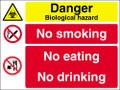Danger biologicah hazardmulti message sign
