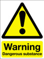 Warning dangerous substances adhesive sign