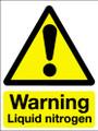 Warning liquid nitrogen sign