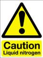 Caution liquid nitrogen vinyl sign