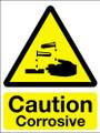 Caution corrosive sign
