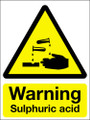 Warning sulphuric acid sign