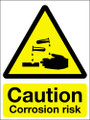 Caution corrosion risk sign