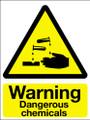 Warning dangerous chemicals sticker