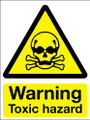 Warning toxic hazard sign