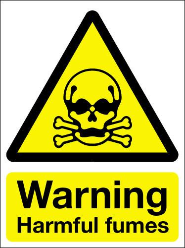 Warning Harmful Fumes Sign Signs 2 Safety