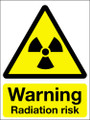 Warning radiation risk sign