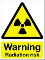 Warning radiation risk sign
