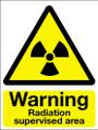 Warning radiation supervised area sign