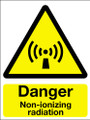 Danger non-ionizing radiation sign