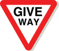 Give way sign