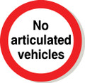 No articulated vehicles road sign