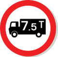 No Goods Vehicles Over 7.5 Tonne road sign