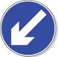 Keep left road sign
