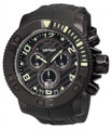 Invicta 0414 Men's Pro Diver Collection Sea Hunter Chronograph All Black Polyurethane Watch | Free Shipping