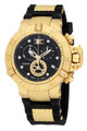 Invicta 15799 Men's Subaqua Noma III Gold Tone Swiss Made Chronograph Collection Black Polyurethane Strap Watch | Free Shipping