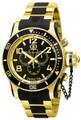 Invicta 6633 Men's Russian Diver Scuba Swiss Quartz 18K Gold-Plated Watch   Free Shipping