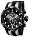 Invicta 0973 Reserve Venom VIPER Swiss Made Chronograph Silver Tone Stainless Steel Case Polyurethane Strap | Free Shipping