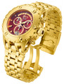 Invicta 80490 Reserve Men's Specialty Subaqua Red Dial Gold Tone Swiss Quartz Chronograph Bracelet Watch | Free Shipping