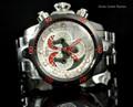 Invicta 14466 Reserve 52mm Venom Swiss Quartz Chronograph 5040F Silver Tone Watch   Free Shipping