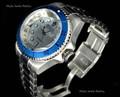 Invicta 16970 Reserve 52mm Hydromax Silver Dial Blue Bezel Quartz GMT Bracelet Watch | Free Shipping