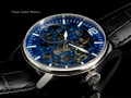Invicta 12404 Vintage Blue Dial Mechanical Black Leather Strap Watch | Free Shipping