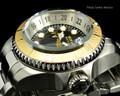 Invicta 16960 Reserve 52mm Hydromax Black Dial Gold Tone Bezel Quartz GMT Bracelet Watch | Free Shipping
