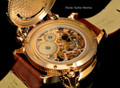 Invicta 14627 Men's Russian Diver Nautilus Swiss Mechanical 24k Rose Gold Tone Dial Brown Leather Strap Watch   Free Shipping