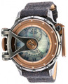 Invicta 18593 Vintage Collection 7004N Swiss Made MOP Rose Gold Tone Black Leather Strap Watch | Free Shipping