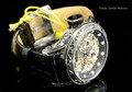 Invicta 18600 Excalibur 52mm Vintage Silver Bezel Silver Mechanical Black Leather Watch | Free Shipping