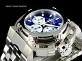 Invicta 22424 46mm X-Wing Quartz Chronograph Blue Dial All Stainless steel Bracelet Watch
