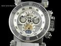 Invicta 17639 Coalition Forces 51mm Swiss Made Quartz Chronograph Silver Dial Silver Bracelet Watch I Free Shipping