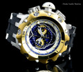 Invicta 20429 Reserve 52MM VENOM Hybrid Blue Dial Gold Tone Bezel 5040F Swiss Quartz POLYURETHANE Watch | Free Shipping