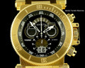 Invicta 17642 Coalition Forces 51mm Swiss Made Quartz Chronograph Black Dial 18k Gold Tone Watch I Free Shipping