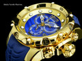 invicta 20402 Sea Dragon Gen. II Swiss Made Chronograph Blue Dial 18k Gold Tone Case Silicon Strap Watch | Free Shipping