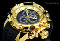 invicta 20401 Sea Dragon Gen. II Swiss Made Chronograph Black Dial 18k Gold Tone Case Silicon Strap Watch | Free Shipping