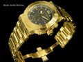 Invicta 46MM Ocean Reef Reserve Swiss Made Chronograph Gray Dial 18k Gold Tone Bracelet Watch | Free Shipping