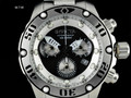 Invicta Reserve 52mm Hydromax SWISS CHRONOGRAPH Black Silver Dial Bracelet Watch