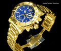 Invicta 48MM Ocean Reef Reserve 2.0 Swiss Made Chronograph 18k Gold Tone Blue Dial Bracelet Watch | Free Shipping