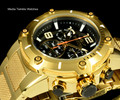 Invicta 19530 Speedway XL Black Dial Swiss Parts Chronograph Gold Tone Bracelet Watch | Free Shipping
