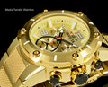 Invicta 19529 Speedway XL Gold Dial Swiss Parts Chronograph Gold Tone Bracelet Watch | Free Shipping