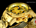 Invicta 22761 Pro Diver Scuba 3.0 Quartz Chronograph Gold Dial Gold Tone Bracelet Watch | Free Shipping
