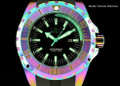 Invicta 23742 Pro Diver 52m Quartz Iridescent Finish Black Dial Black Polyurethane Strap Watch