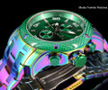 Invicta 24159 ProDiver 48mm Green Dial Iridescent Finish Bracelet Watch