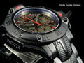 Invicta 50mm Subaqua 23809 Poseidon Quartz Chronograph Gunmetal Dial Red Accented Black Bracelet Watch