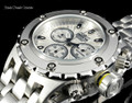 Invicta 52mm Specialty Subaqua Silver Guilloché Dial All Silver Bracelet Watch 23918