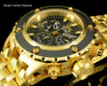 Invicta 52mm Specialty Subaqua Black Guilloché Dial 18k Gold Tone Bracelet Watch 23921