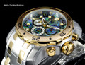 Invicta 48mm Pro Diver Abalone Dial Quartz Chronograph Two Tone Bracelet Watch 24836